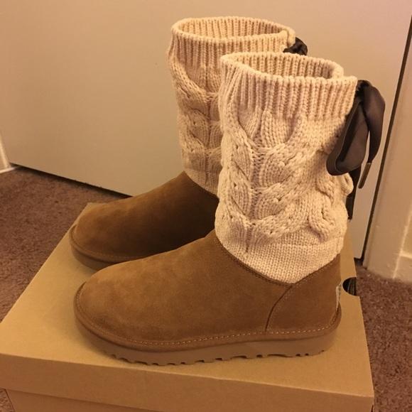 692e1f0c88b NIB UGG Kiandra Chestnut Boots / Women Size 6 & 7